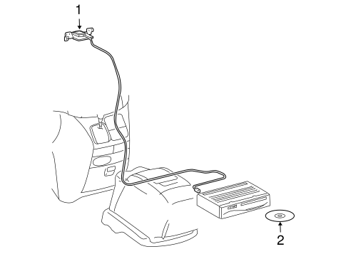 Navigation System Components For 2005 Toyota Sienna