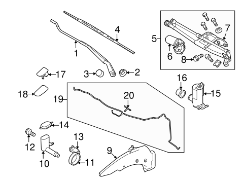 Body/Wiper & Washer Components for 2013 Ford Transit Connect #1