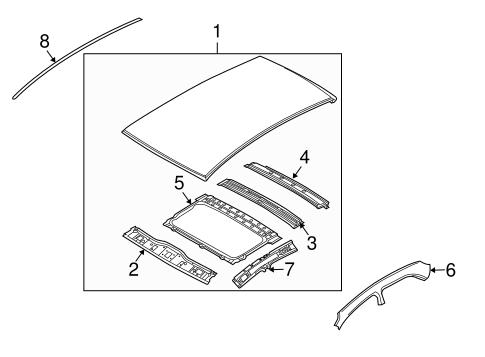 Fine Exterior Trim Roof For 2011 Chevrolet Aveo 1 To Design