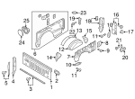 remote tailgate roller (use with FL3Z-99442A38-A for soft open tailgate) - Ford (FL3Z-83430B38-B)