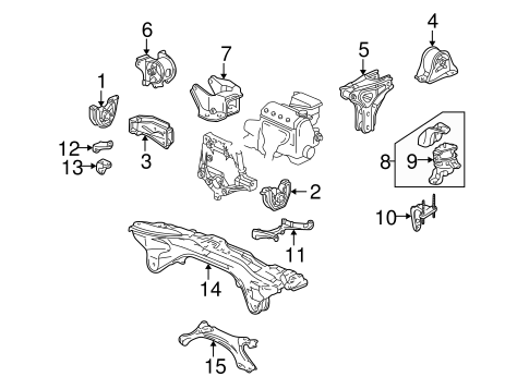 Bracket, Rear Engine Mounting