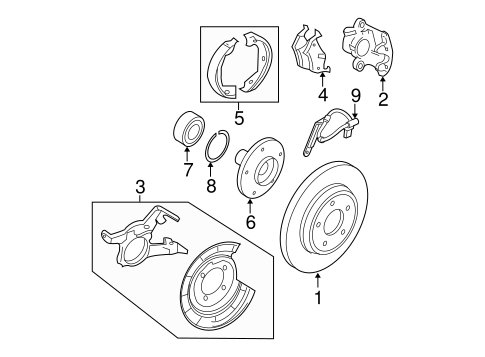 Brakes/Brake Components for 2006 Ford Escape #3