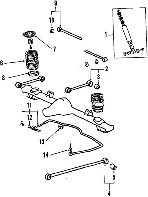 Rear Suspension For 1984 Toyota Corolla Toyota Parts Center