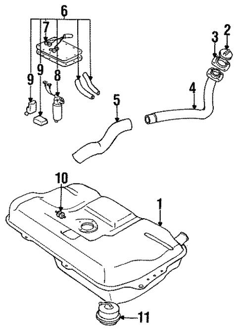 Fuel System Components For 1989 Suzuki Swift