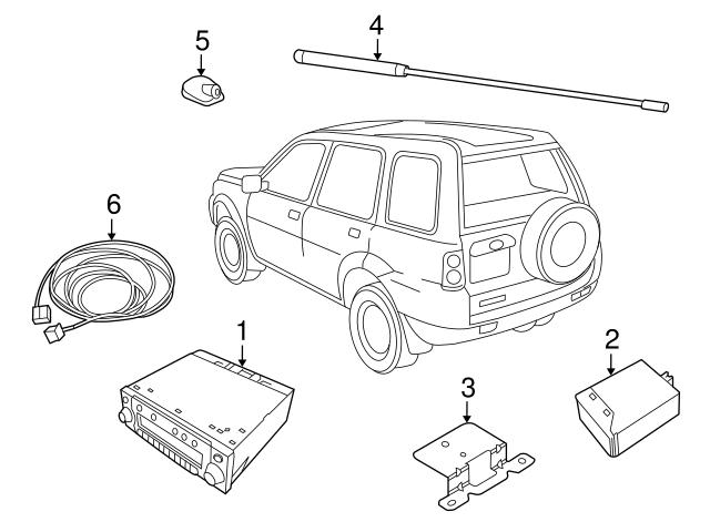2002 2003 2004 2005 Land Rover Freelander Wiring Part Ymq001530