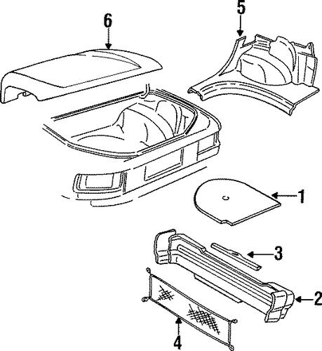 oem 1992 oldsmobile achieva interior trim