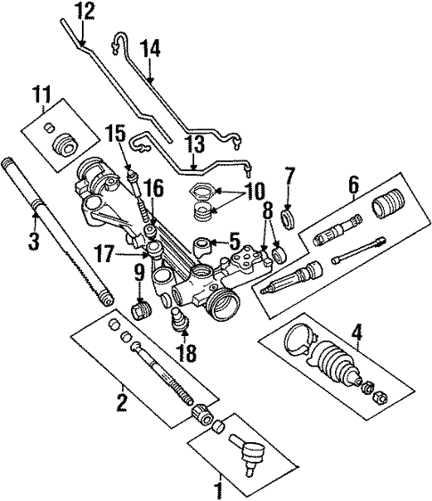 Steering Gear & Linkage for 2000 Ford Windstar #0