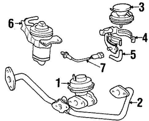 EMISSION SYSTEM/EMISSION COMPONENTS for 1998 Toyota T100 #1