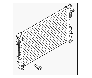 Radiator - Ford (FB5Z-8005-A)