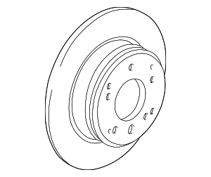 Disk, Rear Brake Drum In - Acura (42510-SP0-000)