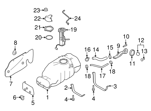 Genuine Nissan Fuel Cap Holder 17571-9EG0C