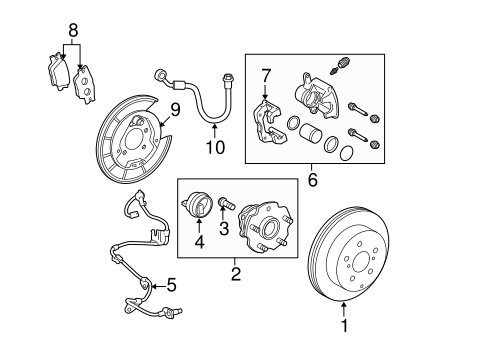 BRAKES/REAR BRAKES for 2007 Toyota RAV4 #2