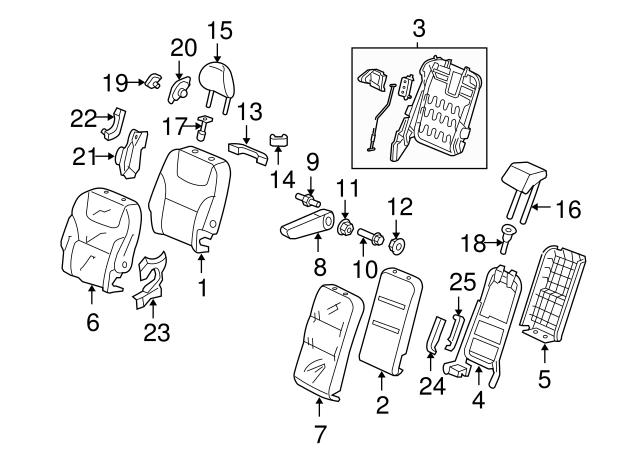 Honda Genuine 82532-SHJ-A01 Seat Cushion Pad