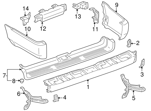 BODY/BUMPER & COMPONENTS - REAR for 1998 Toyota 4Runner #1