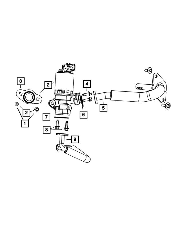 OEM Flange Gasket for EGR Tube 5277928 Mopar Chrysler Dodge Jeep Ram