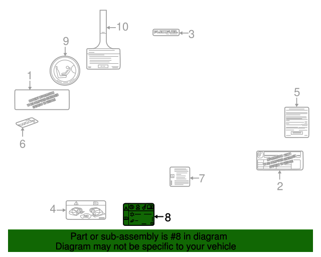 ac label - gm (22878735)