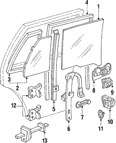 Lock Assembly, R Rear Door Power (Mitsui Kinzoku)