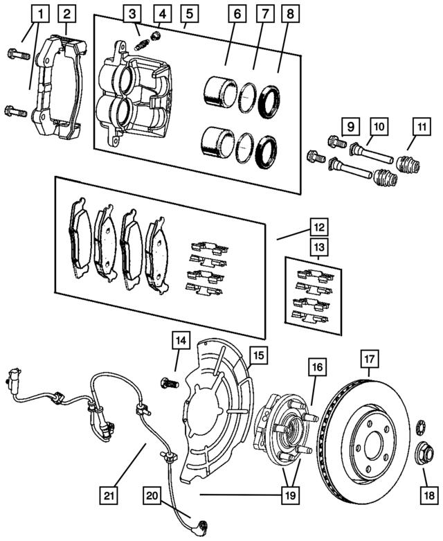 jeep caliper bracket 5143699ab