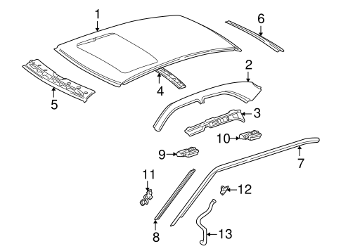 Roof & Components for 1996 Mercedes-Benz C 280 #0