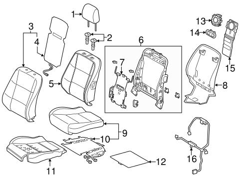Driver Seat Components For 2014 Lexus Es350