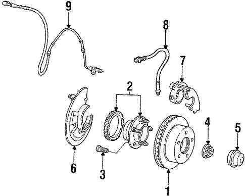Front Brakes For 1997 Ford Crown Victoria