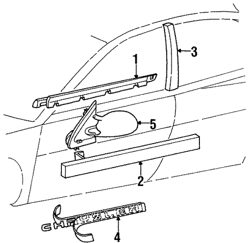 Outside Mirrors For 1999 Chrysler Cirrus
