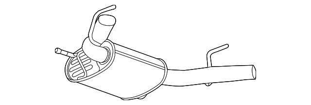 genuine oem rear muffler