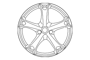 Wheel, Alloy - Nissan (D0C00-1A36A)