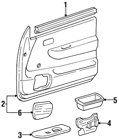 interior trim door for 1996 toyota t100 toyota of simi valley Chevy Power Steering Bracket Diagram interior trim door for 1996 toyota t100