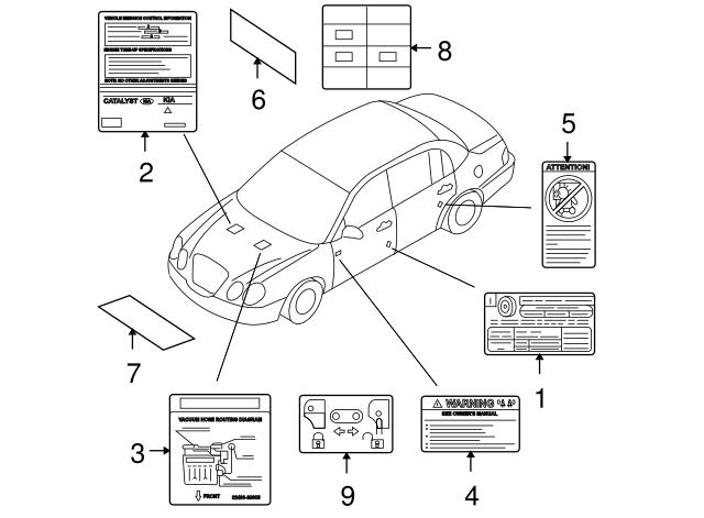 Vacuum Diagram Genuine 2006 Kia Amanti 3249039005