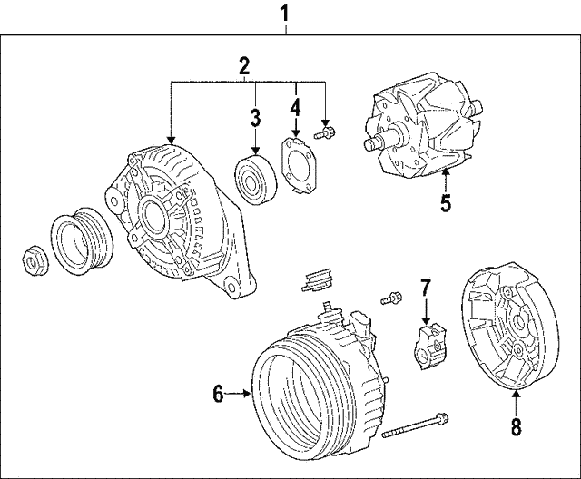 Alternator - Toyota (27060-28301-84)