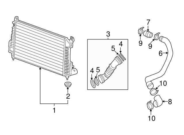 Genuine GM Inter-Cooler Upper Insulator 19130029