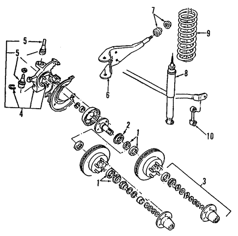 Suspension Components For 1993 Ford Explorer