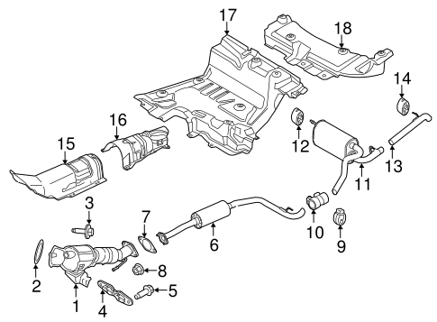Exhaust Components For 2014 Ford Transit Connect