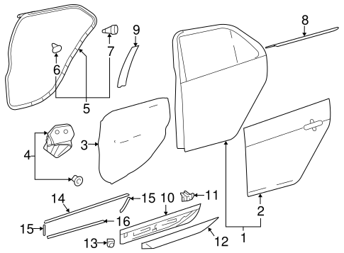 BODY/DOOR & COMPONENTS for 2014 Toyota Yaris #3