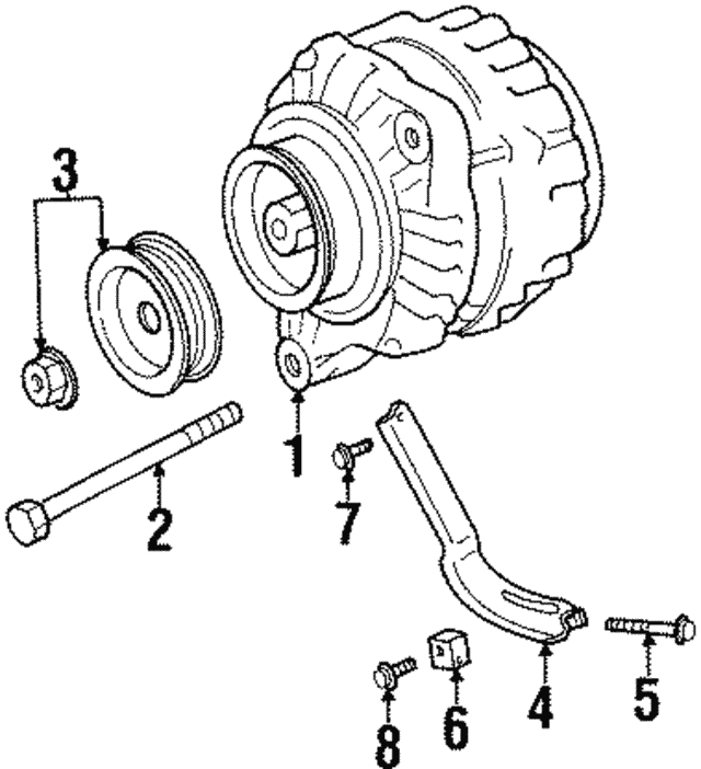 Alternator Adjust Bolt - Nissan (11719-85E00)