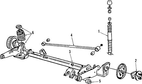 oem 1986 oldsmobile cutlass ciera rear axle parts