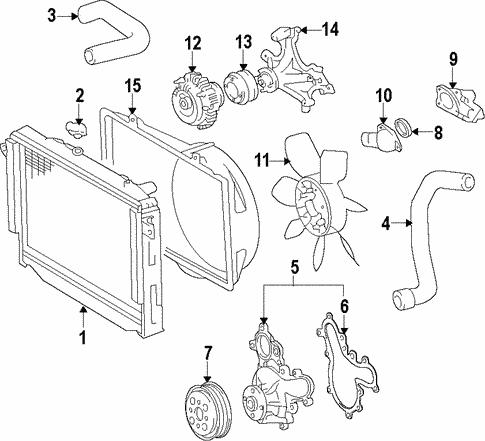 Radiator Components For 2015 Lexus Gx460