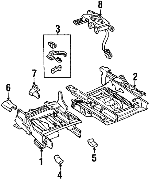 Tracks Components For 2000 Mercury Grand Marquis