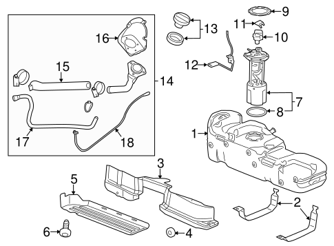Fuel System Components For 2015 Gmc Sierra 3500 Hd