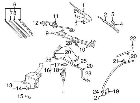 ELECTRICAL/WIPERS for 2002 Toyota Prius #1