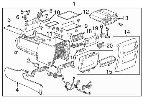 Oem 2015 Gmc Yukon Xl Center Console Parts