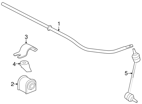 Stabilizer Bar Components For 2009 Jaguar Xk