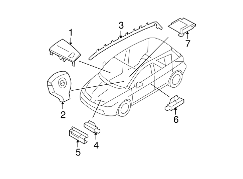 Air Bag Components For 2012 Nissan Versa