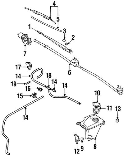 Oem 1998 Chevrolet Prizm Wipers Parts Gmpartsonline Net