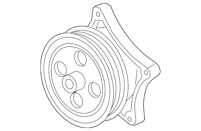 2016 2019 Chevrolet Volt Water Pump 12645159