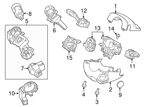 Steering/Shroud, Switches & Levers for 2012 Ford Focus #1