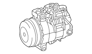 A/C Compressor - Mercedes-Benz (000-830-37-02)