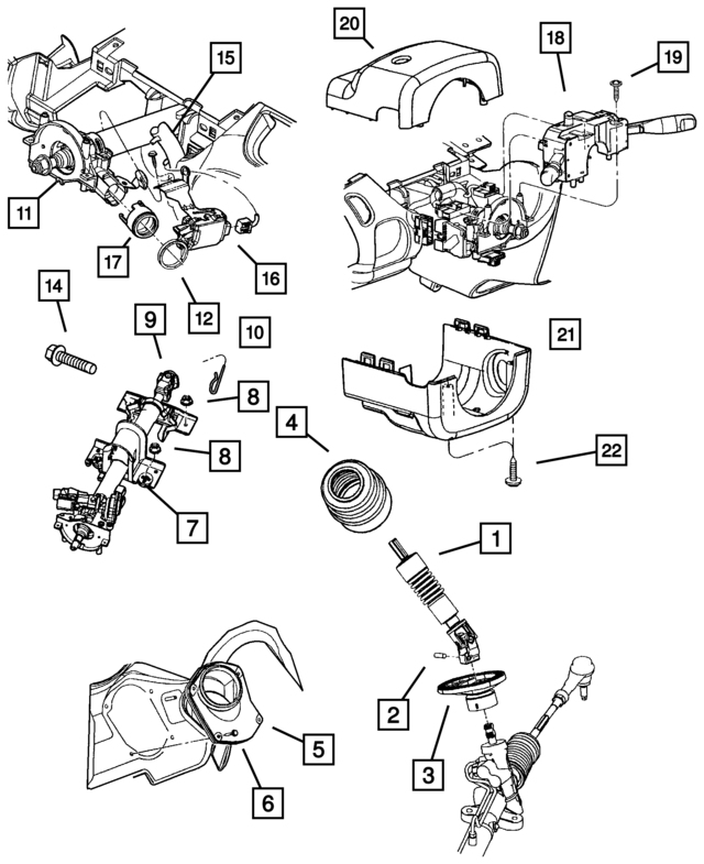 2003 dodge neon steering column shaft seal 4664217ab mopar one online F350 Steering Column Diagram steering column shaft seal mopar 4664217ab