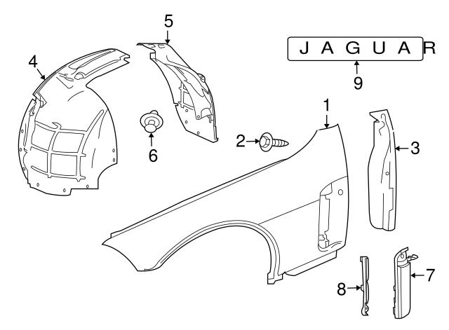 2007 2011 Jaguar Deflector C2p6075